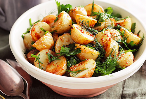Roasted vegetables with Rucola