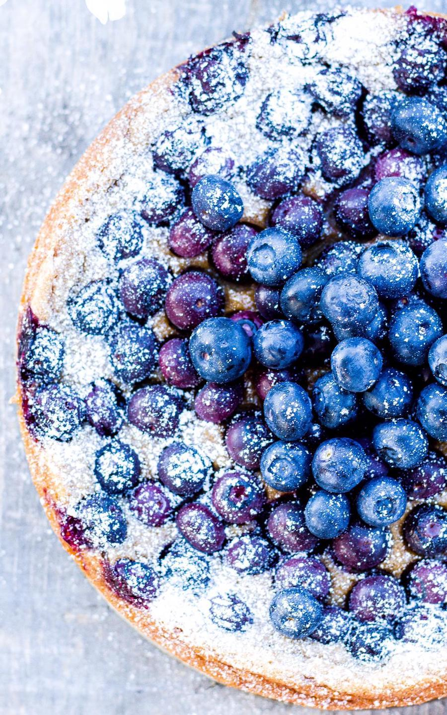 Glutenfree rice pudding blueberry cake