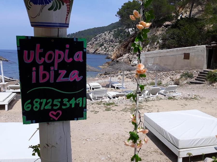 Utopia Ibiza beach restaurant