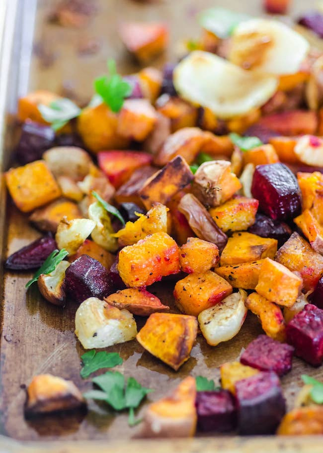 healthy roasted vegetables detox dinner
