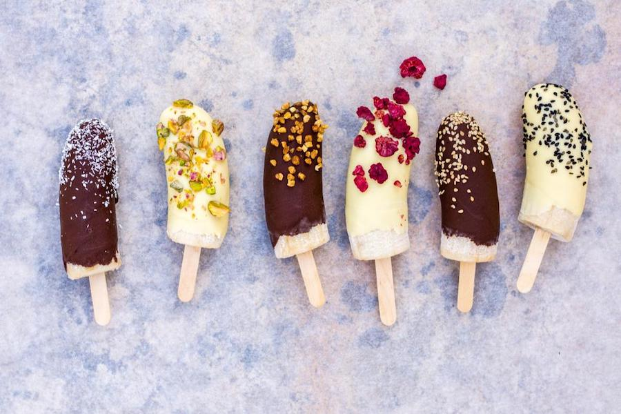 Healthy vegan banana chocolate ice cream