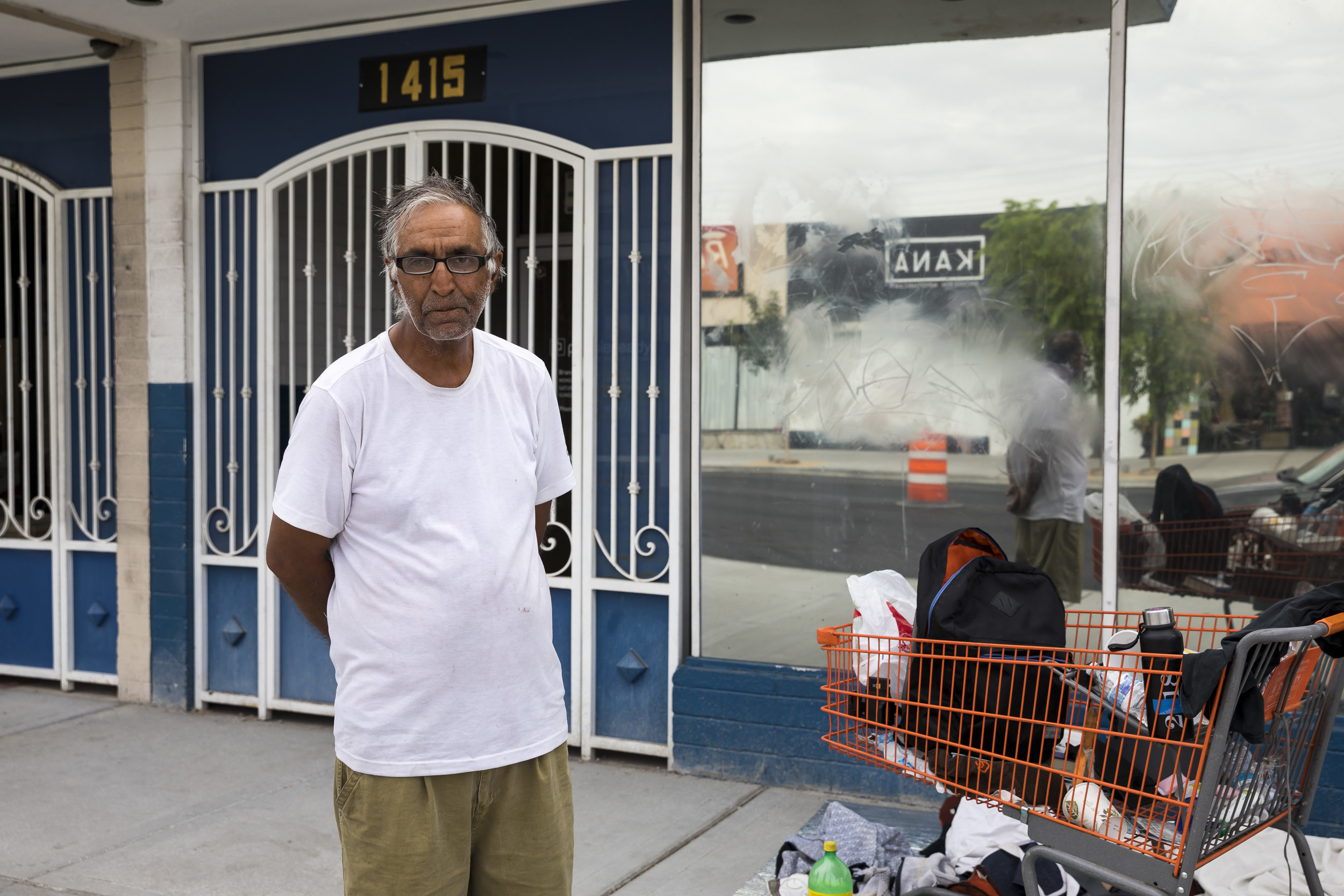 Monir Rafiq, former Defense Intelligent Contractor in Afghanistan, seen on the streets of Las Vegas on July 9, 2018.