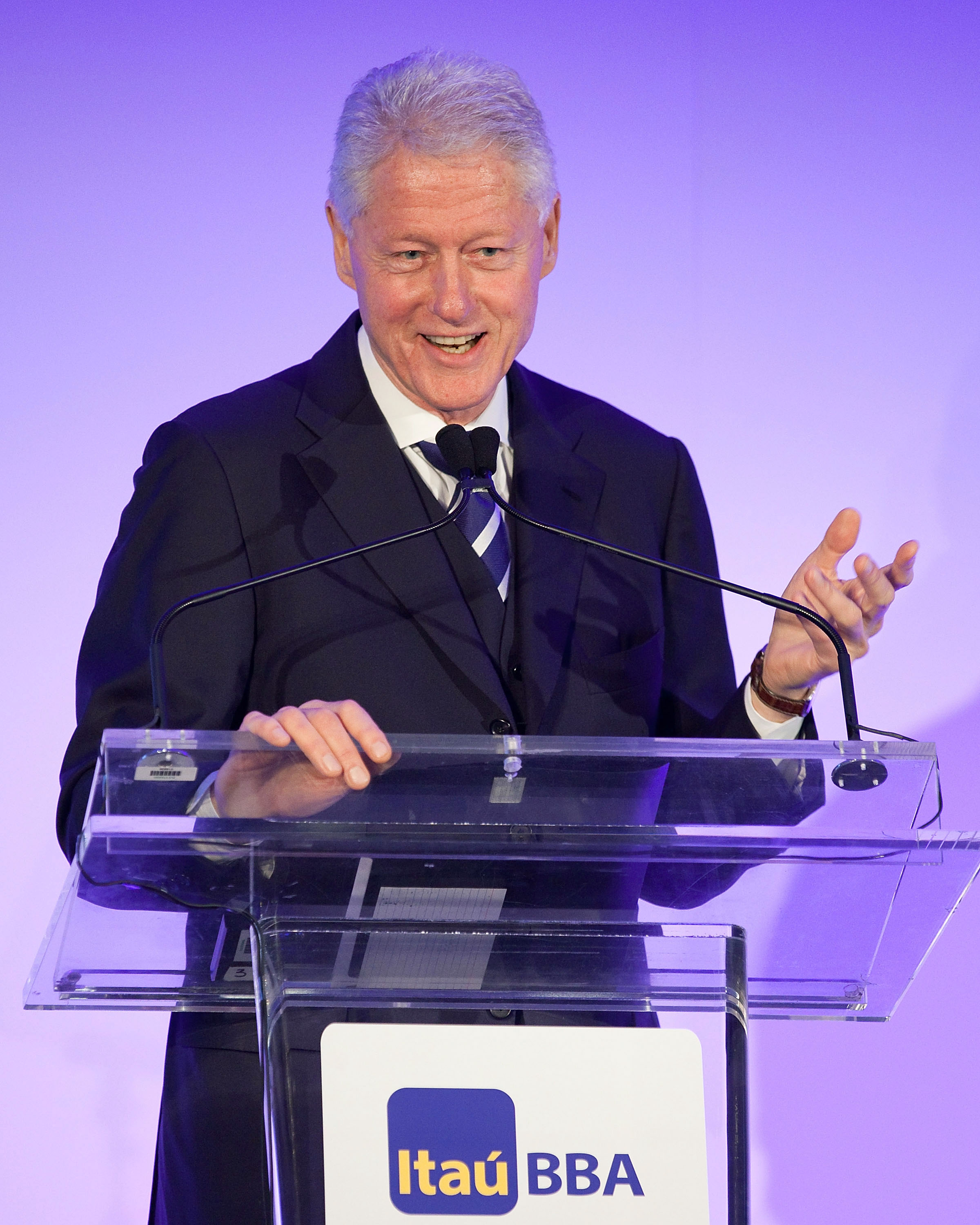 President Bill Clinton Speaking at podium