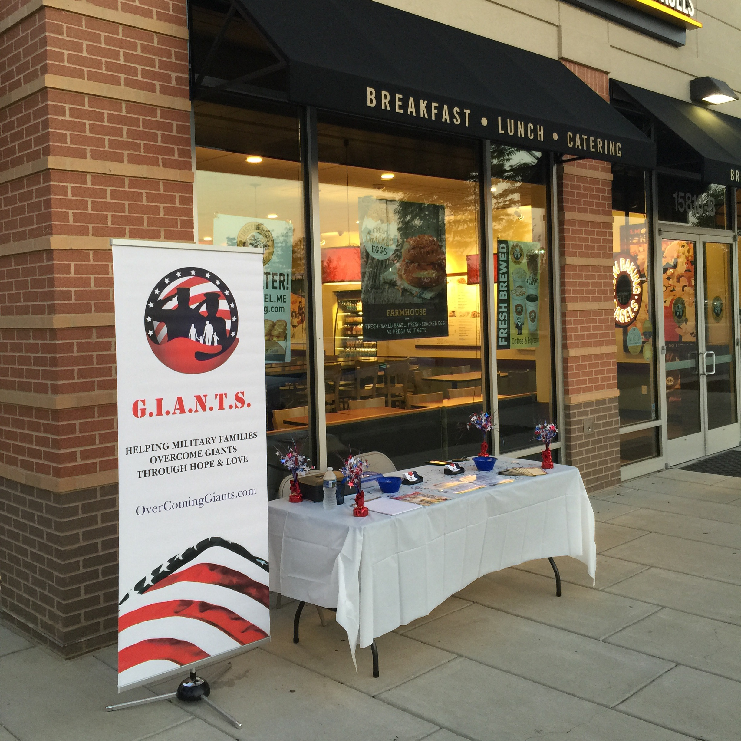 We are happy and thankful to have partnered with Einstein Bros. Bagels September 24, 2016 located at Brandywine, MD for our Public Awareness Day/Fundraiser.