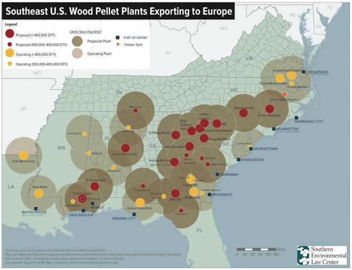 Southeast US Wood Pellet Plants Chart.png
