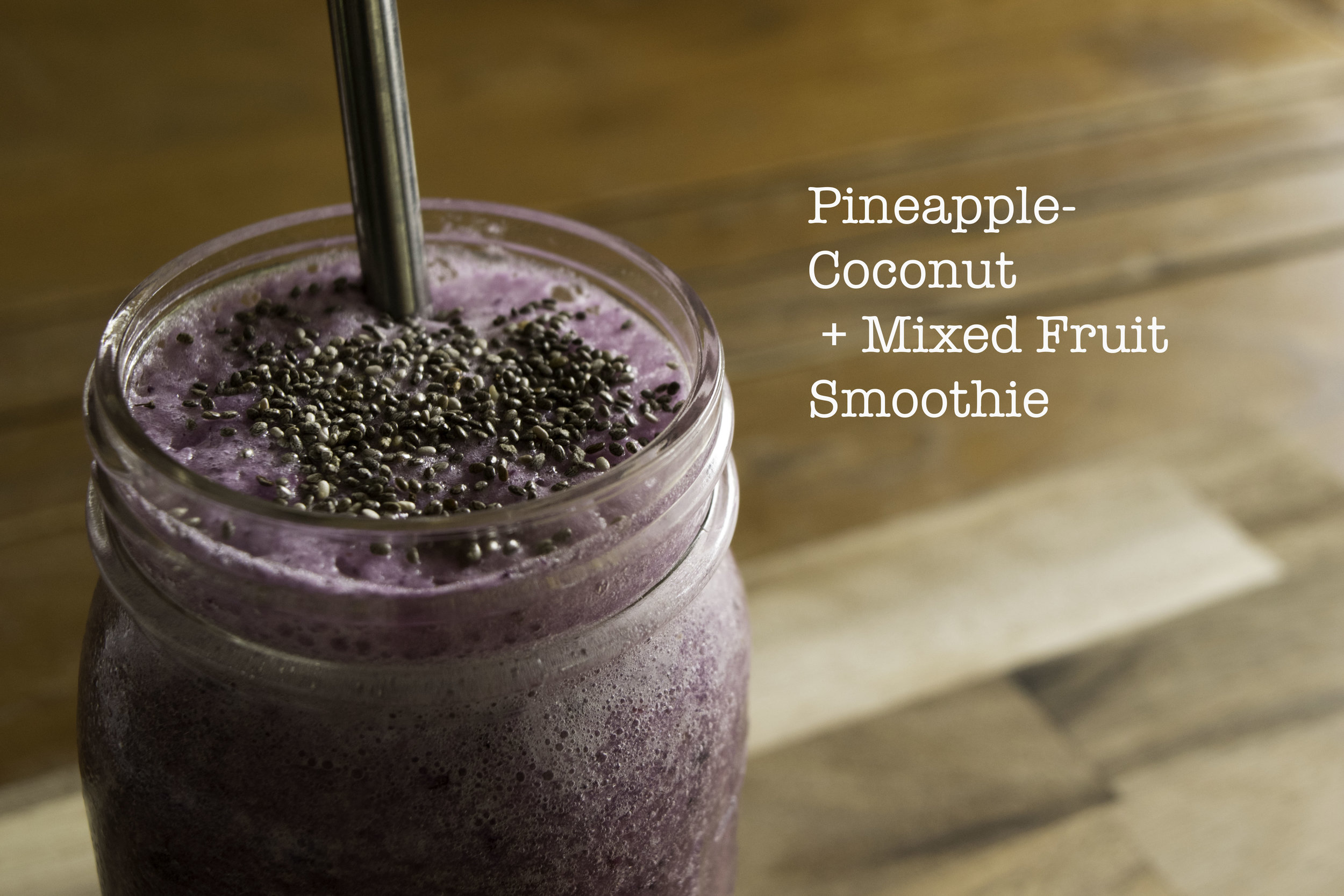 Pineapple-Coconut + Mixed Fruit Smoothie   The Savour