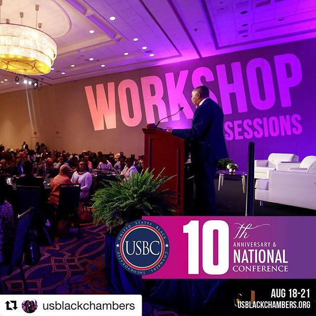 Attending these conferences not only offer invaluable connections but it can re-energize you and your business!  #Repost @usblackchambers with @get_repost ・・・ High level, expert advise and practical hands-on knowledge for black entrepreneurs is what we're about. Bringing together and forging black chambers from around the entire country is who we stand for. Providing scholarships, education, innovation, grants, funds, and access is how we do it🙏🏽 . Check out some of our most popular and requested sessions this year at the 10th Anniversary of the #USBCConference! . Reserve your seat now at usblackchambers.org/conference.