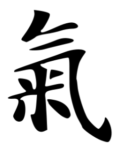 The Chinese character for qi