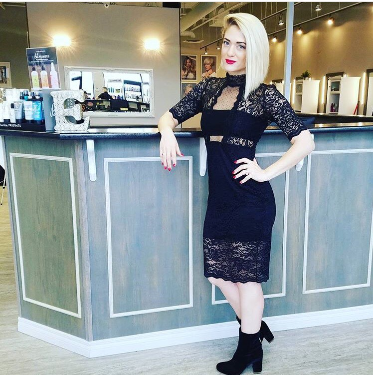instagram: @ashleenormanhair  Ashlee Norman getting ready to teach at Elixir Hair Studio