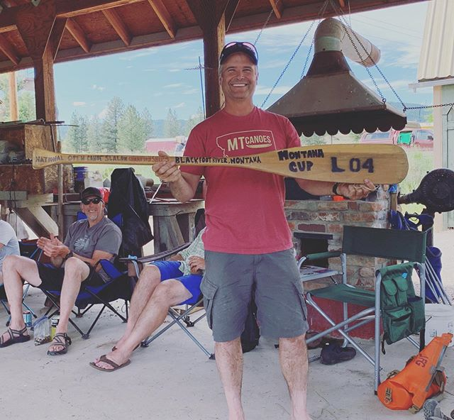Because he's humble like that, the last post failed to mention that MT Canoes' own John Gallagher won the OC1 event (aka the Montana Cup) at yesterday's Blackfoot Challenge! This 15-year tradition bestows the traveling trophy to the Montana paddler with the fastest time (accounting for penalties). Congrats, Johnny!  #blackfootriver #whitewatercanoeing  #oc1 #montanacup #weliketodothecanoe #madeinmontana #mtcanoes #compositecanoes #canoeslalom #montana #coach #winnerwinner #chickendinner #socktan