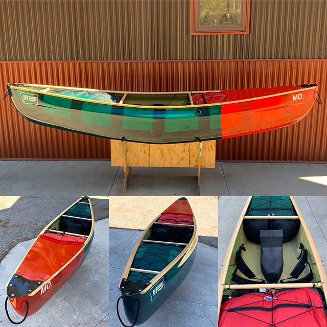 MO 7 ready to paddle at 37 lb. with electric bilge pump, @fall_line_canoes float bags and splash plate. #mtcanoes #whitewatercanoeing #compositecanoes #handmade #falllinecanoes #whitewater #trykneeling #oc1 #christmasboat #weliketodothecanoe