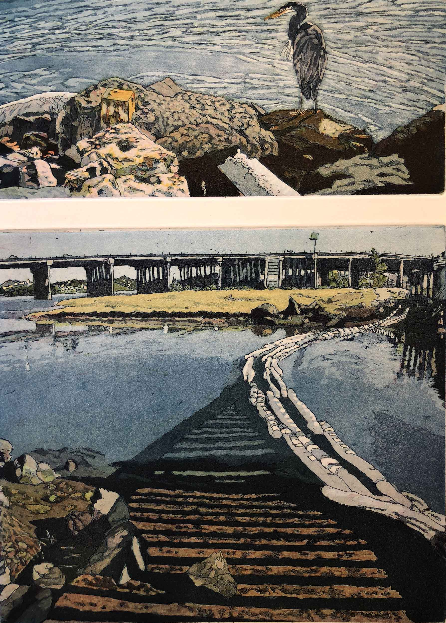 Coast Walk III: Bay Spill/Bird