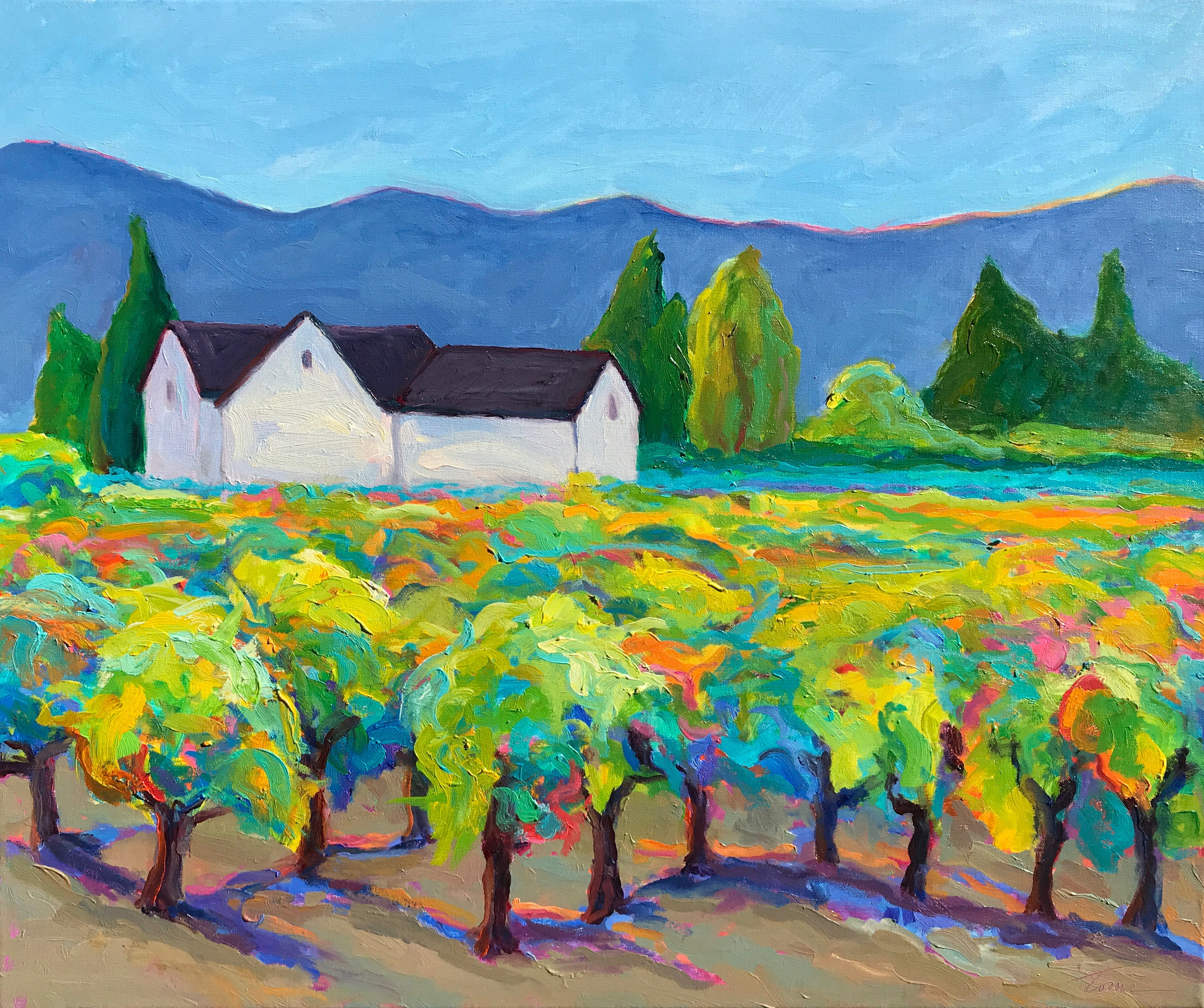 Vineyard Dreams II by Leslie Toms