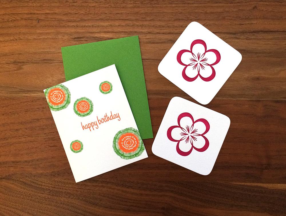 Birthday Card and Dogwood Coasters