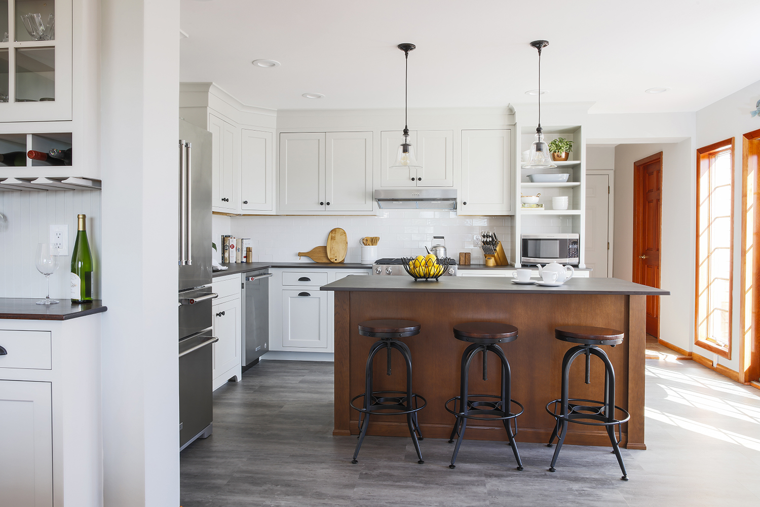 natural elements kitchen full view