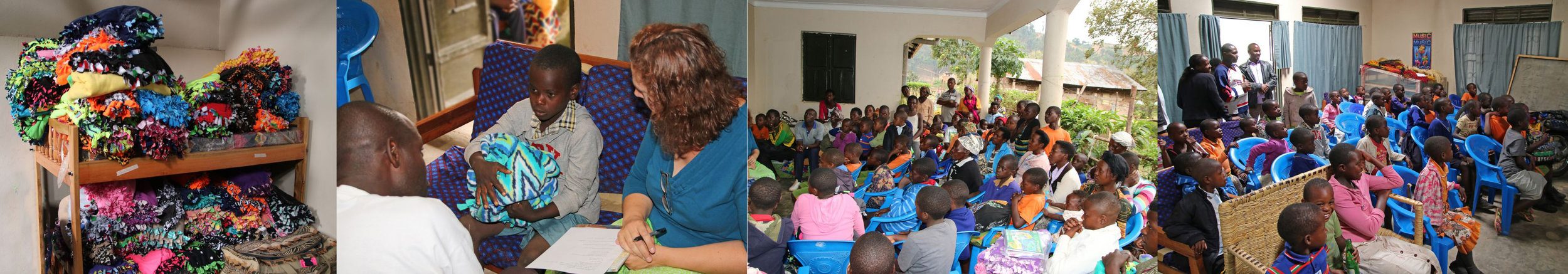 Blankets for the kids; Orphan interview; Meeting with sponsors and orphans; Watching movie.