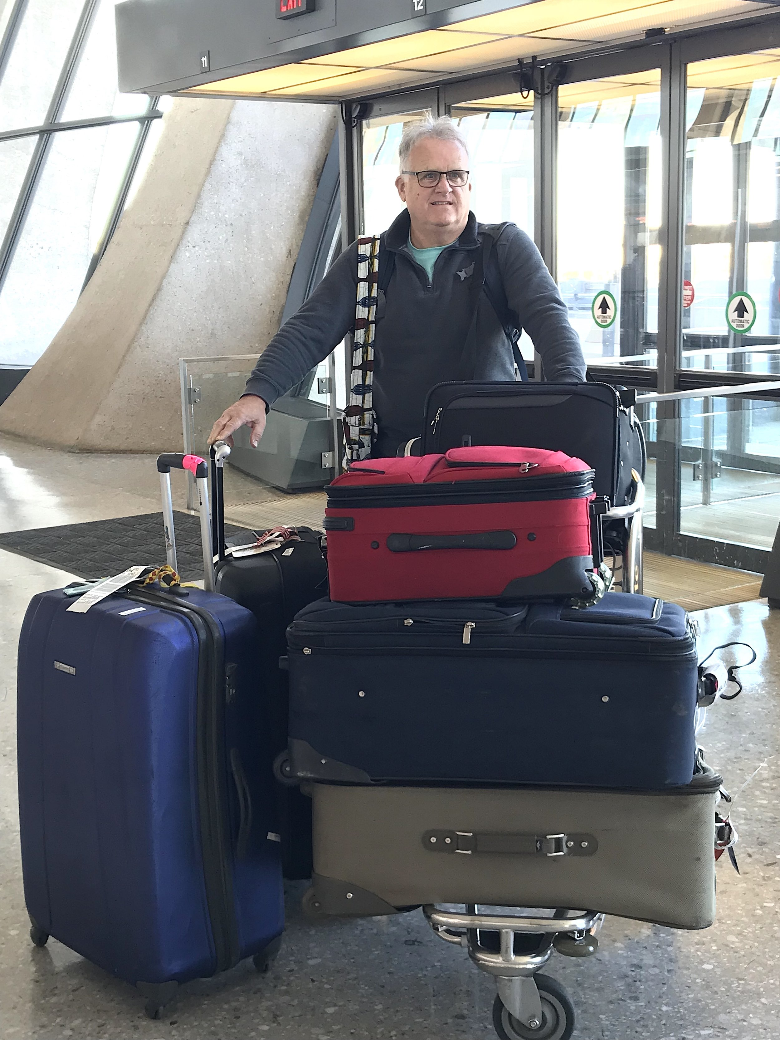 Dave and all the luggage!