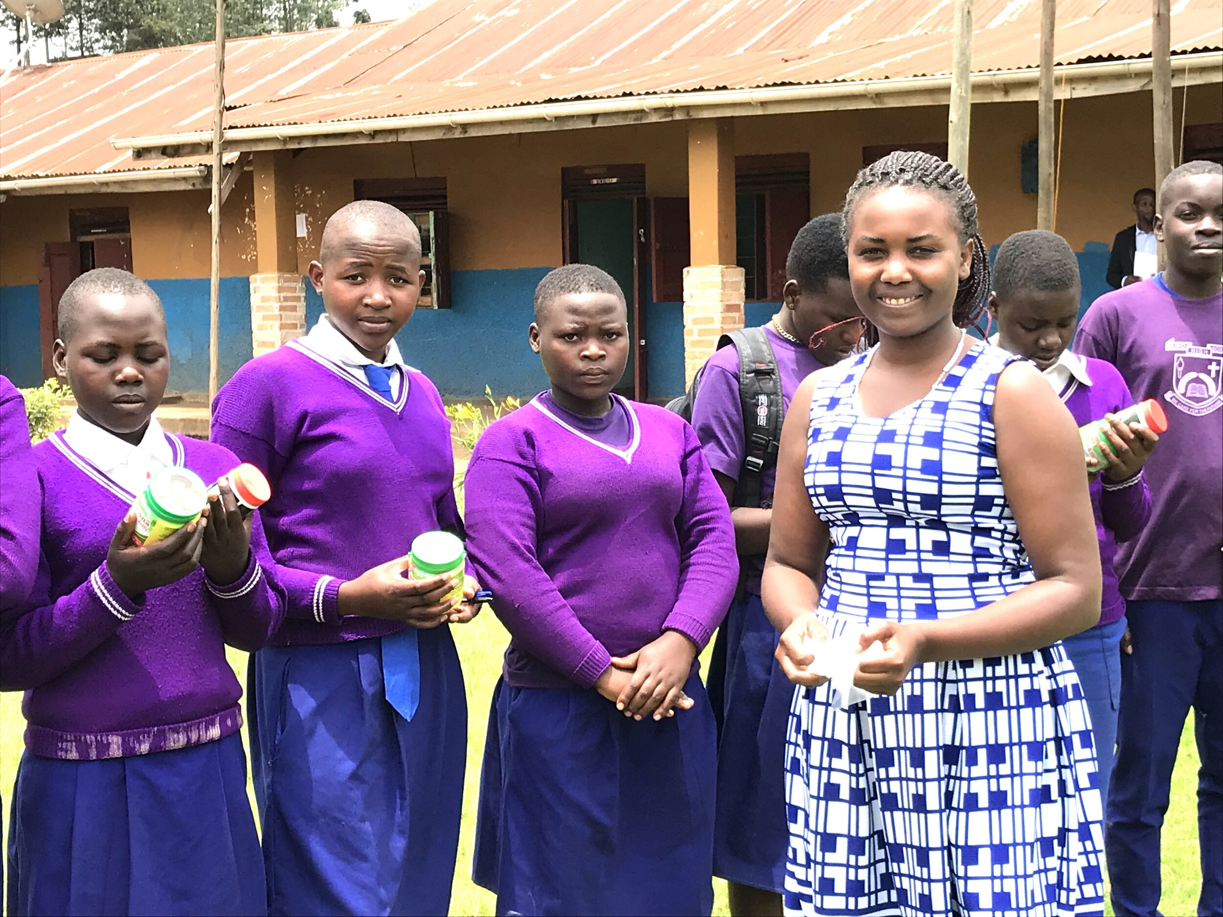 Judith with some of our MukoHOPE girls at Muko High School.