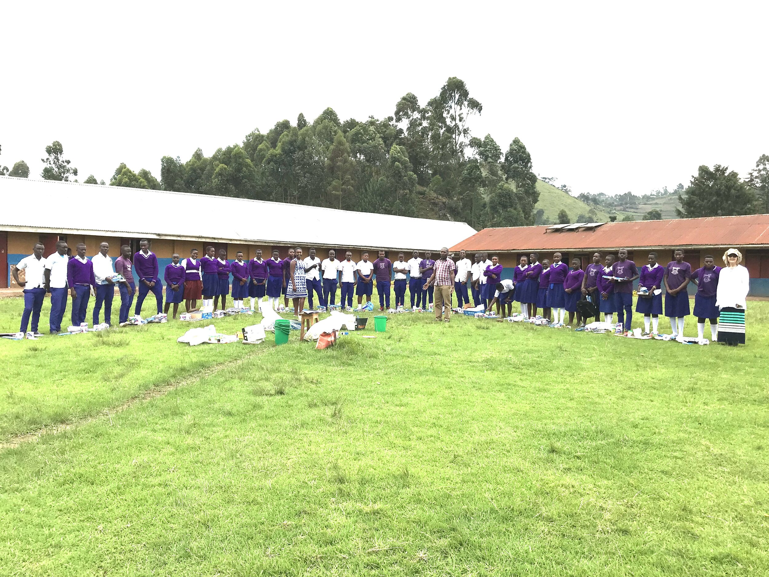 MukoHOPE kids at Muko High School - new term begins and they receive their supplies purchased by their sponsors generous support.