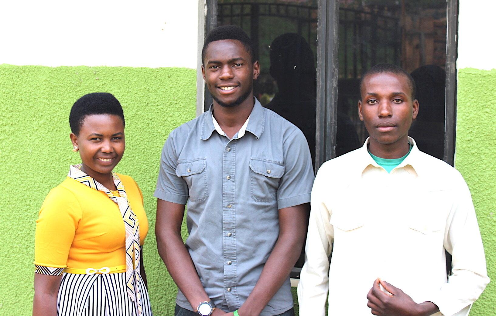 Judith Tukahirwe, Nursing - ACT Staff; Benson Agaba, Kiswahili; Isaac Ainembabazi, Environmental Science