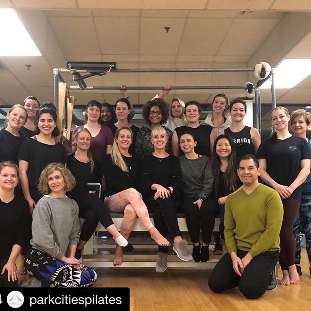 Love it when our @romanapilates Master Teachers are in town at @parkcitiespilates Rhonda treked here from the arctic 🥶 of Chicago and I had a WONDERFUL lesson with her that focused on opening my chest and encouraging my lower abdominals to keep turning back on, 10 months after c-section. 🙌 It's amazing to experience the same exercises in entirely new ways with a simple curing change that is specific to your body and needs. ✨ Then, she led a pre-Pilates rehab, prehab exercises workshop. We focused a lot on the feet, she had so much to share - and how to make a variety of exercises accessible to those who are recovering from injury, arthritic conditions, post menopause, aging, etc. We are lucky to have a home studio here that welcomes our master teachers regularly so that we can continue learning and help ourselves and our clients. 🙏 #Repost @parkcitiespilates with @get_repost ・・・ Thank you for everyone who came to Rhonda's Pre-Pilates workshop.  Your new clients (and old 😉) will thank you for it. #parkcitiespilates #romanaspilates #pilates #loveallaround #dallas #pilatesreformer #friyay