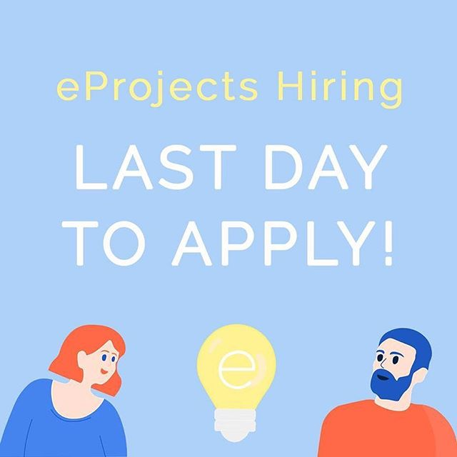 💡LAST DAY OF HIRING! 💡  Designers. Corporate Relations. Marketing. Operations. Entrepreneurs. Innovators. WE'RE HIRING!  We highly encourage rad and innovative students from ALL FACULTIES to join the eProjects team for next year - we're hiring for a variety of different positions! LINK IN OUR BIO 💛