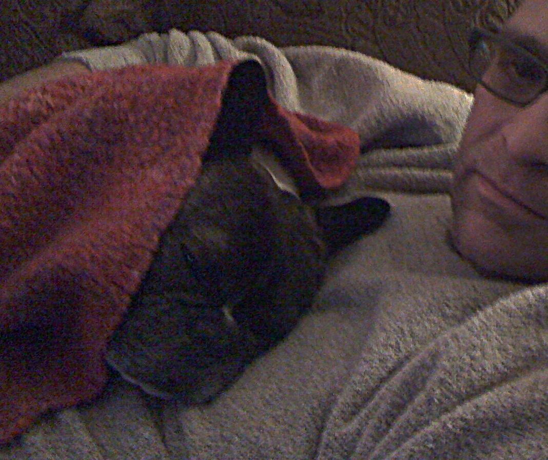 Cesar cuddling with Gregore