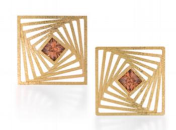 Stripes project by Gregore-18 karat gold, zircon