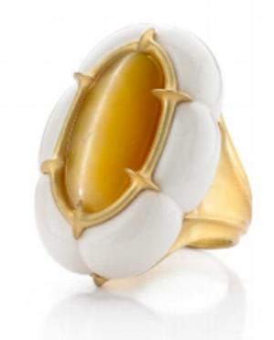 Rhythm by Jennifer-Rabe  Cats Eye yellow Opal, Cochalon, gold