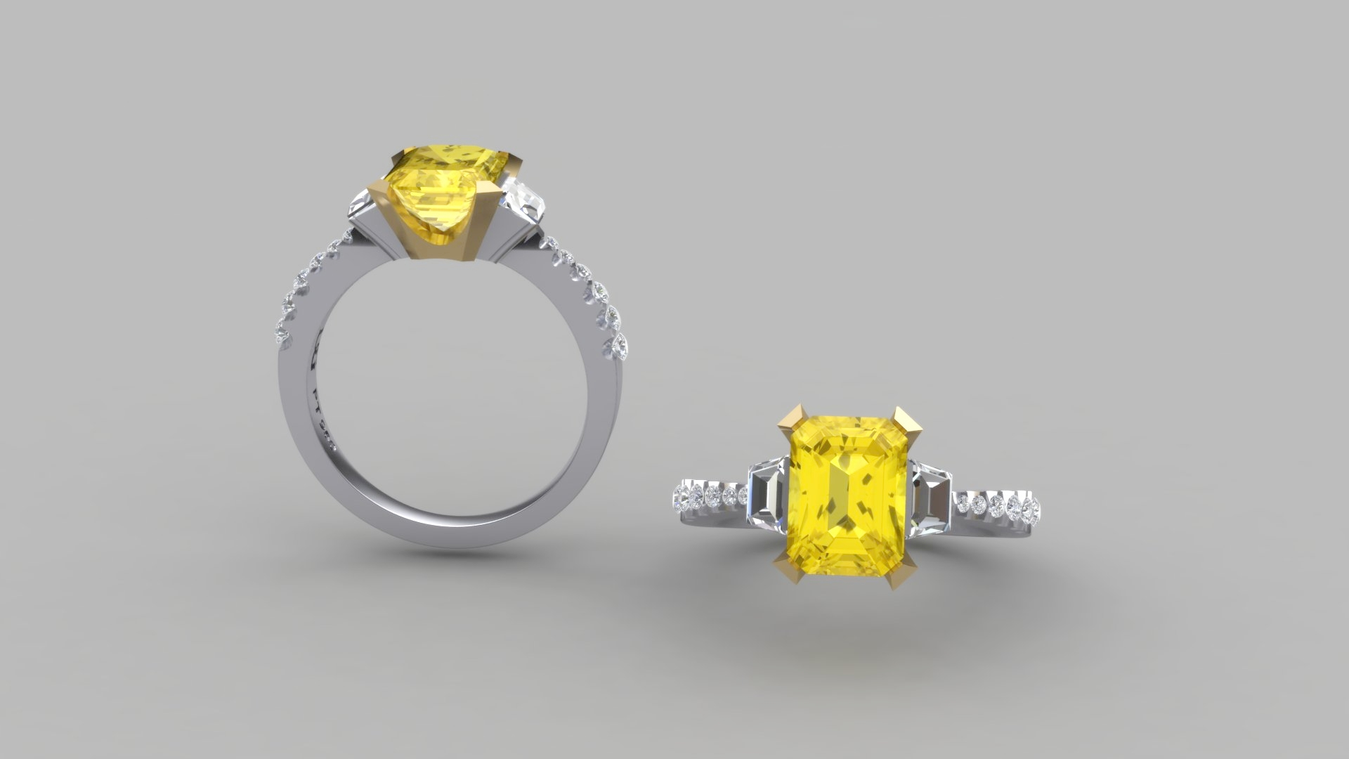 CAD render of the ring above