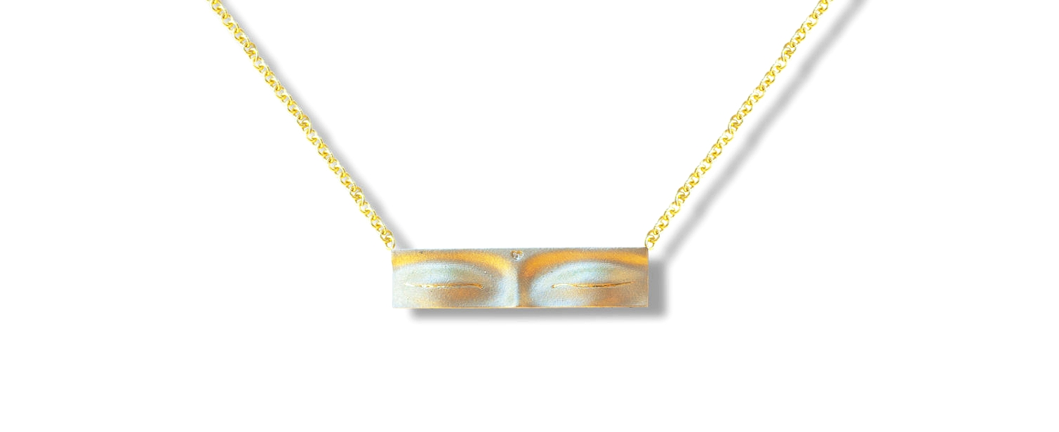 Yellow Gold Buddha Eyes Pendant