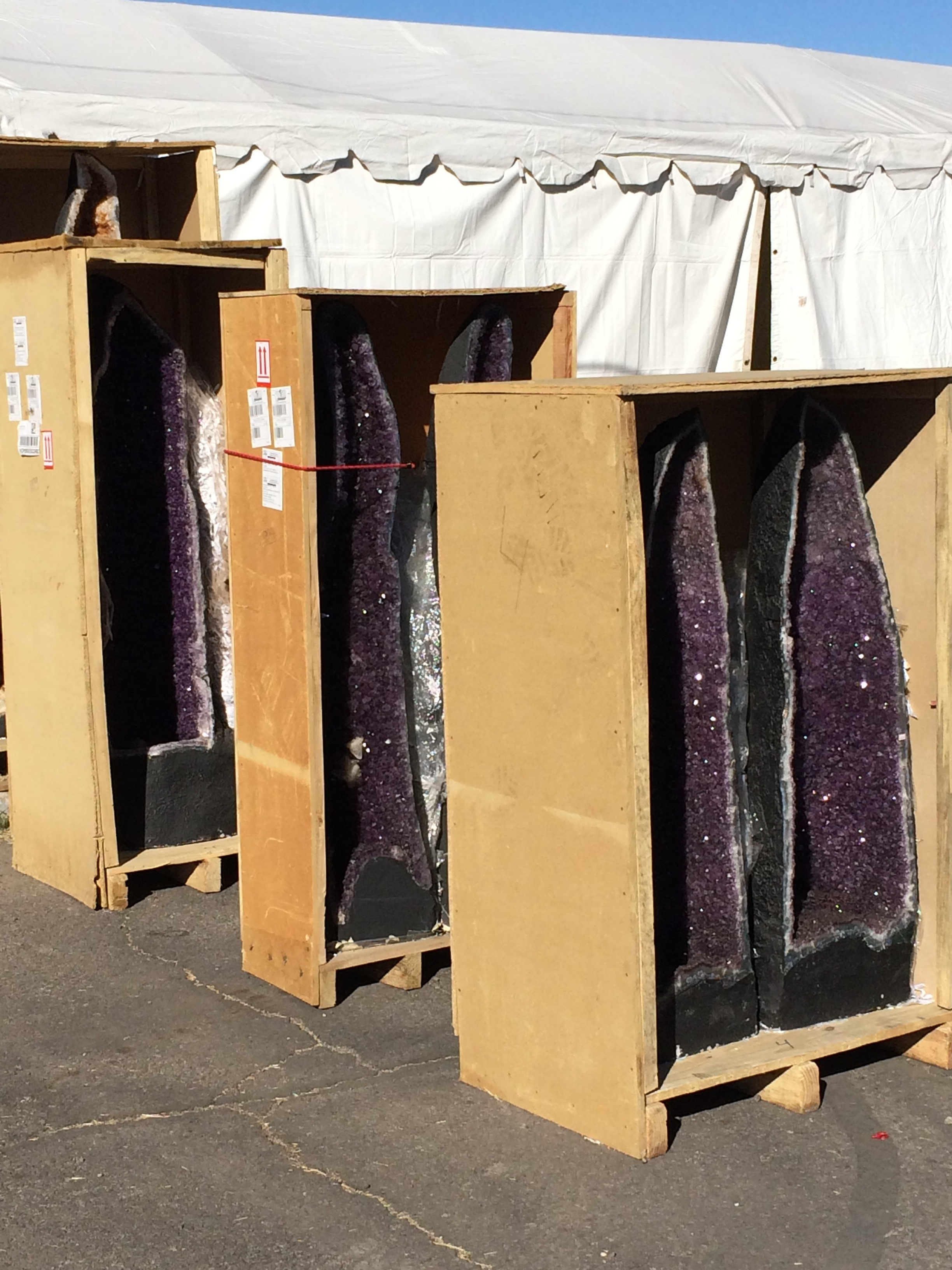 Typical for the show are giant geodes, here are Amethyst