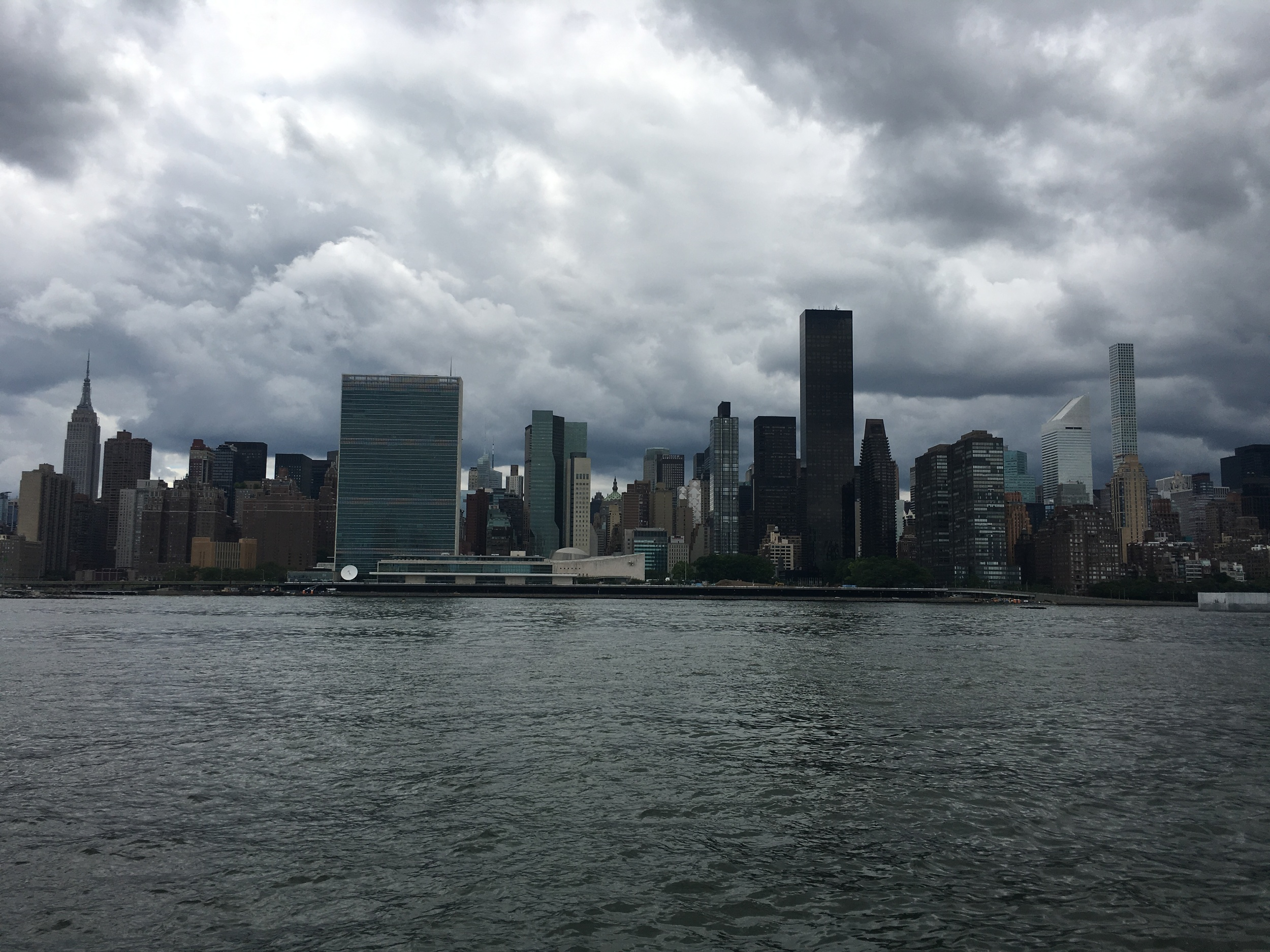 Today's view of Manhattan from Gantry Park