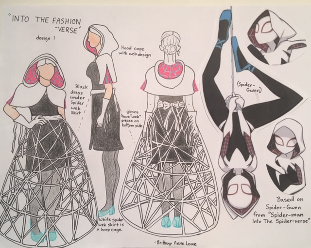 Into the Fashionverse inspired by Spider-Gwen - Spiderman by Brittany Lowe