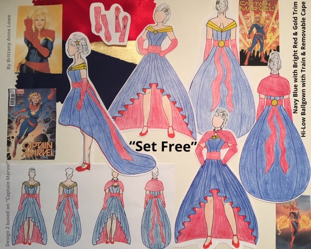 Set Free inspired by Captain Marvel by Brittany Lowe
