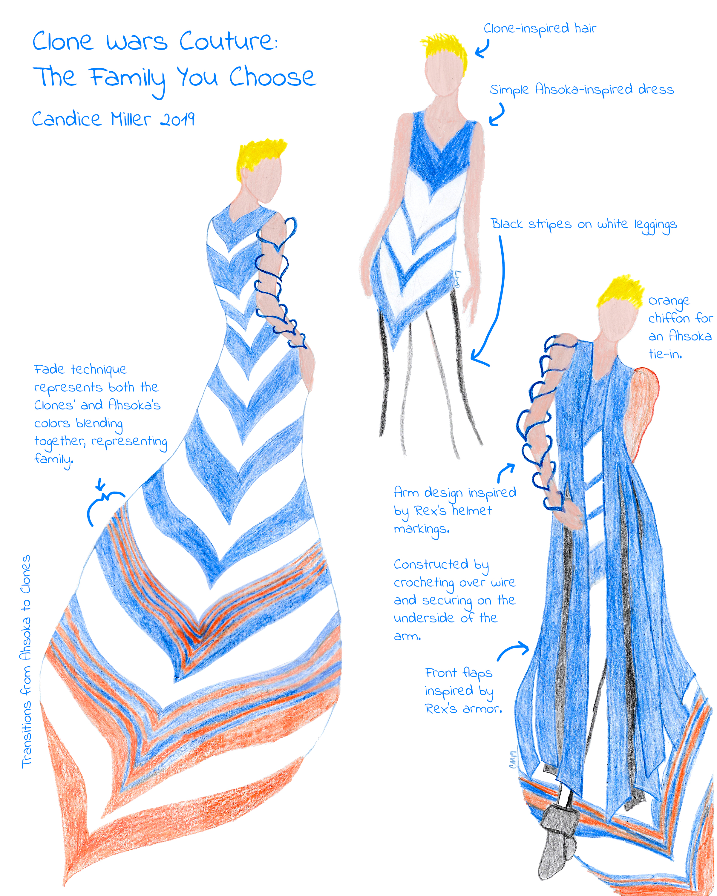Clone Wars Couture: The Family you Choose inspired by Ahsoka Tano by Candice Miller