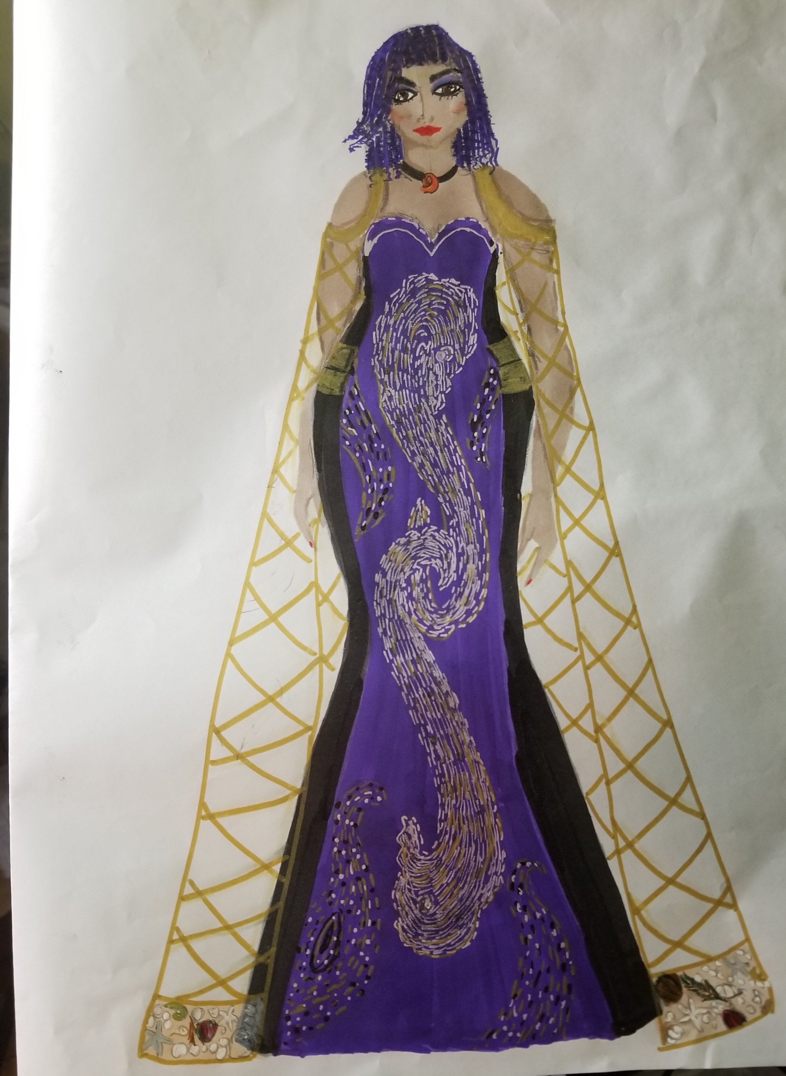 Ursula in Royalty inspired by The Little Mermaid by Chanelle Childers
