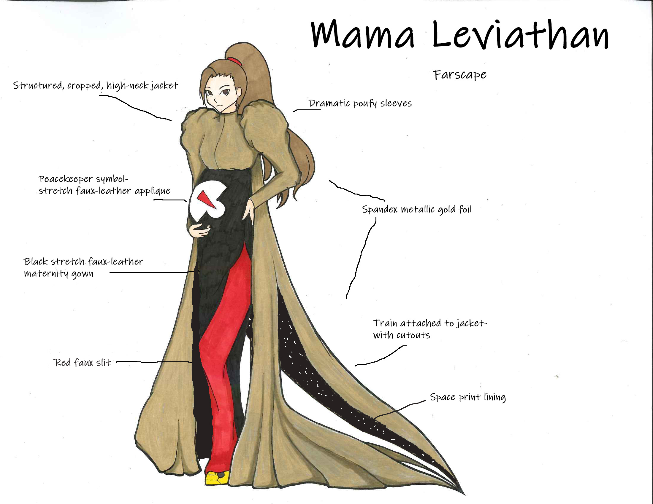 Mama Leviathan inspired by Farscape by Emily Blake