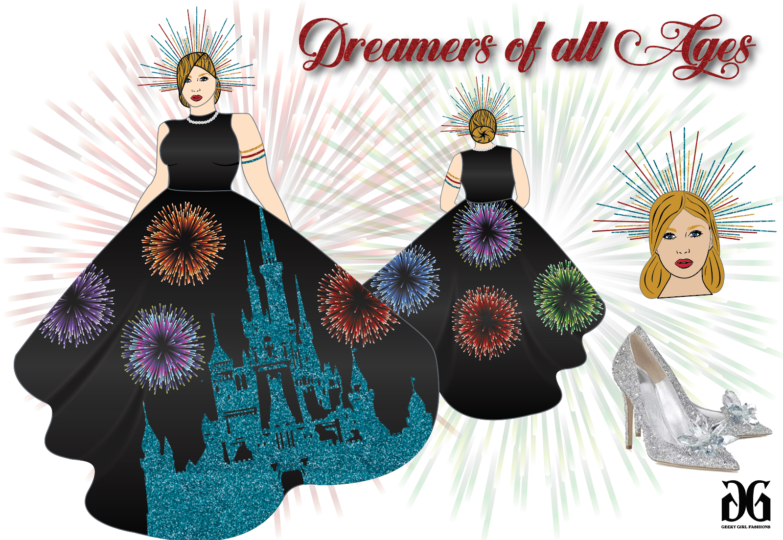 Dreamers of All Ages inspired by the Disney Castle by Emily Gilmer