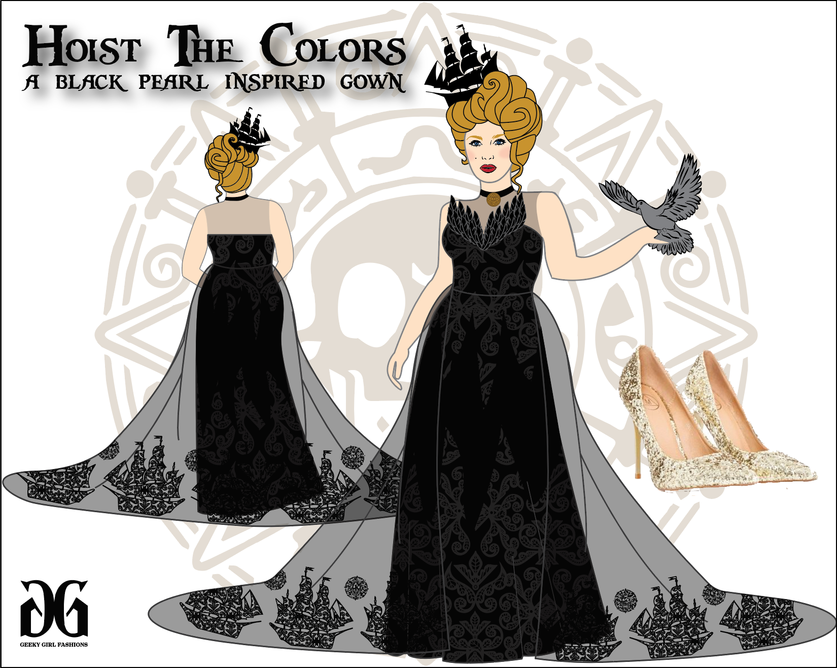 Hoist the Colors inspired by The Black Pearl by Emily Gilmer