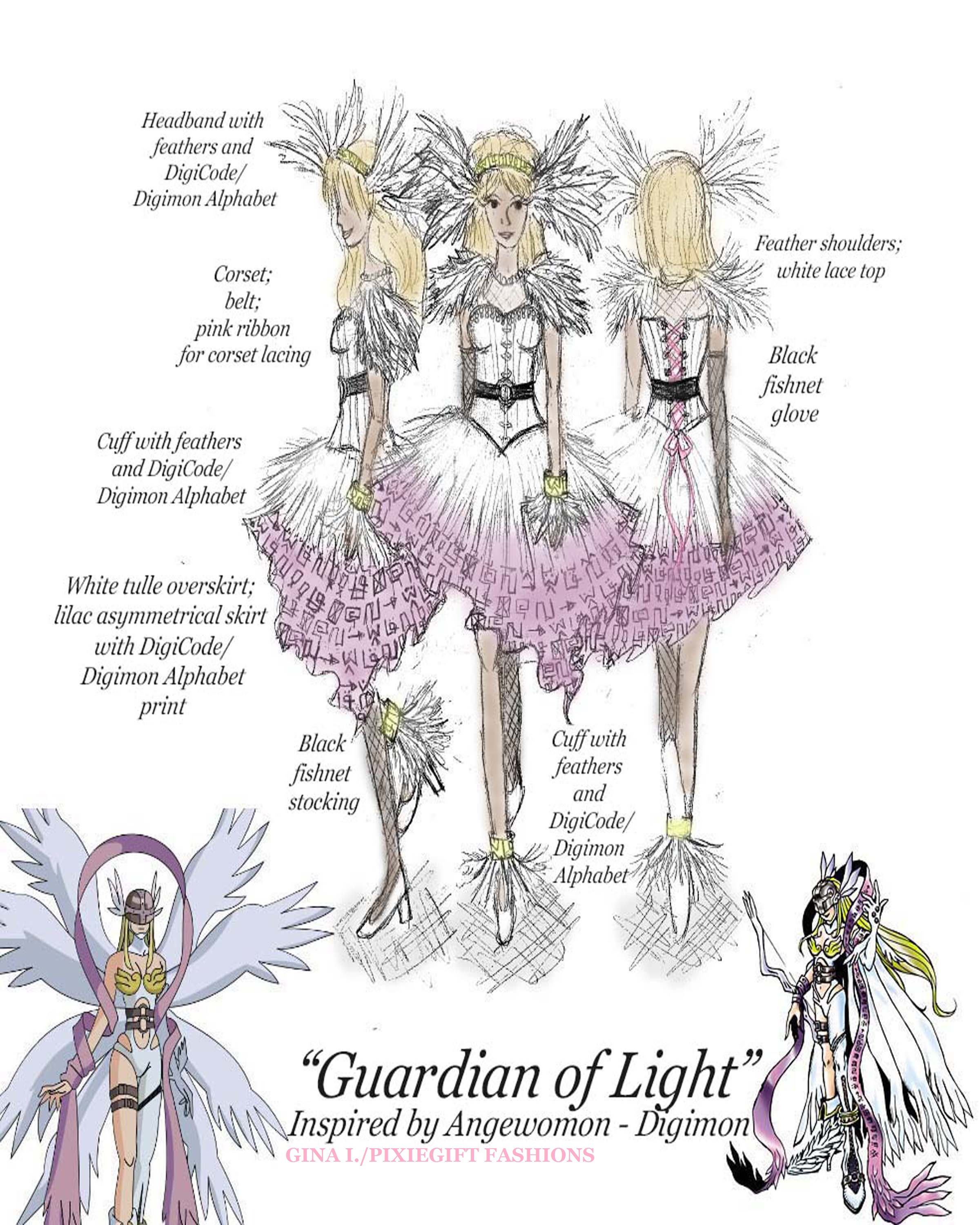 Guardian of Light inspired by Angewomon - Digimon by Pixiegift Fashions