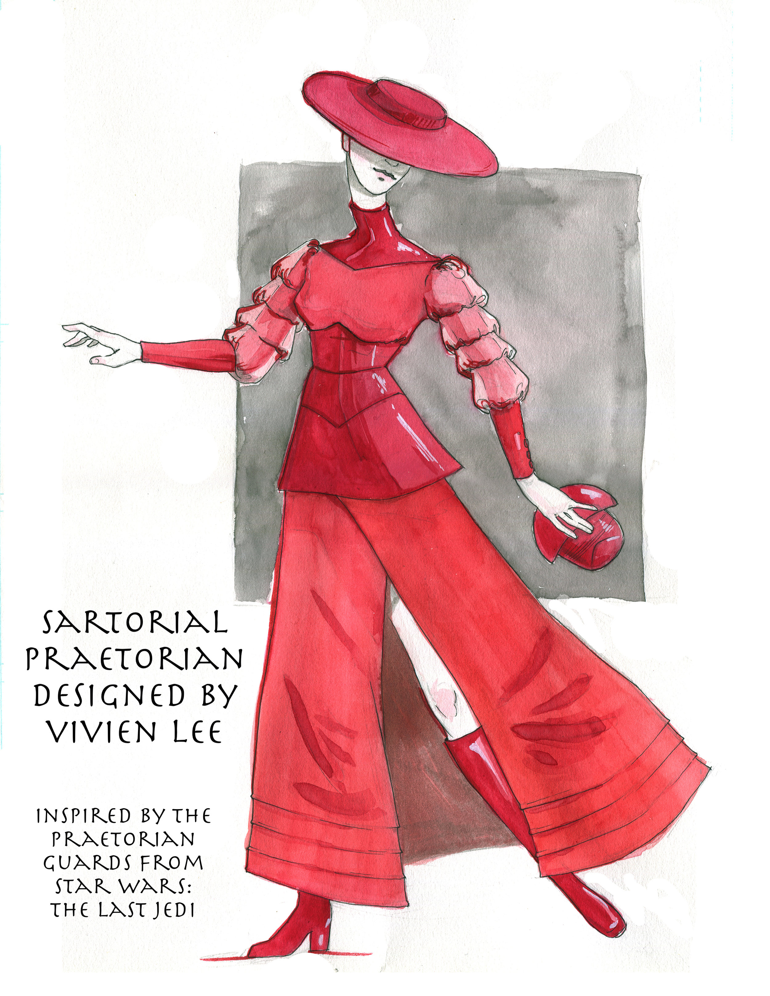 Sartorial Praetorian inspired by the Praetorian Guards from Star Wars: The Last Jedi by Vivian Lee