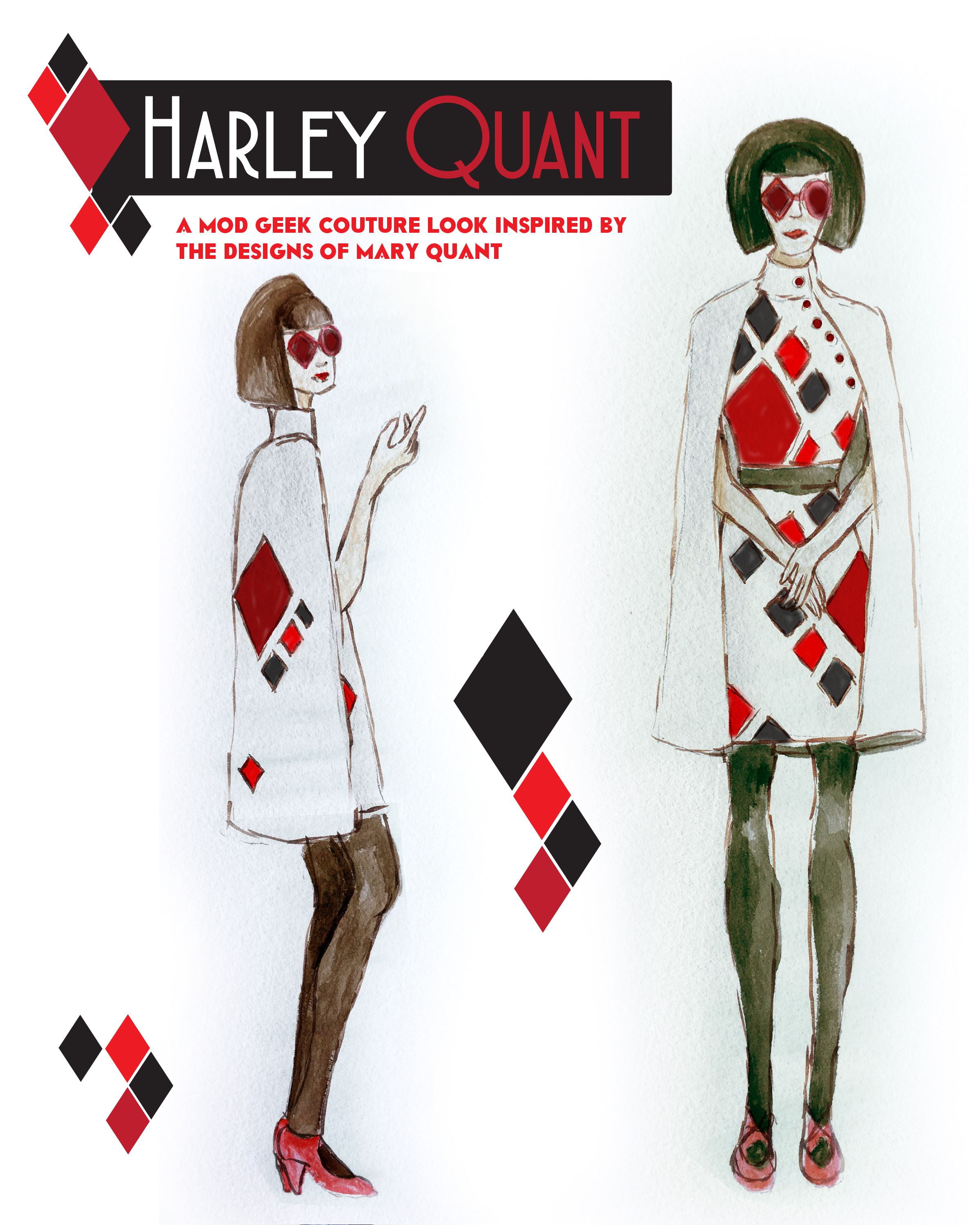 My 2016 rejected design, Harley Quant inspired by Harley Quinn