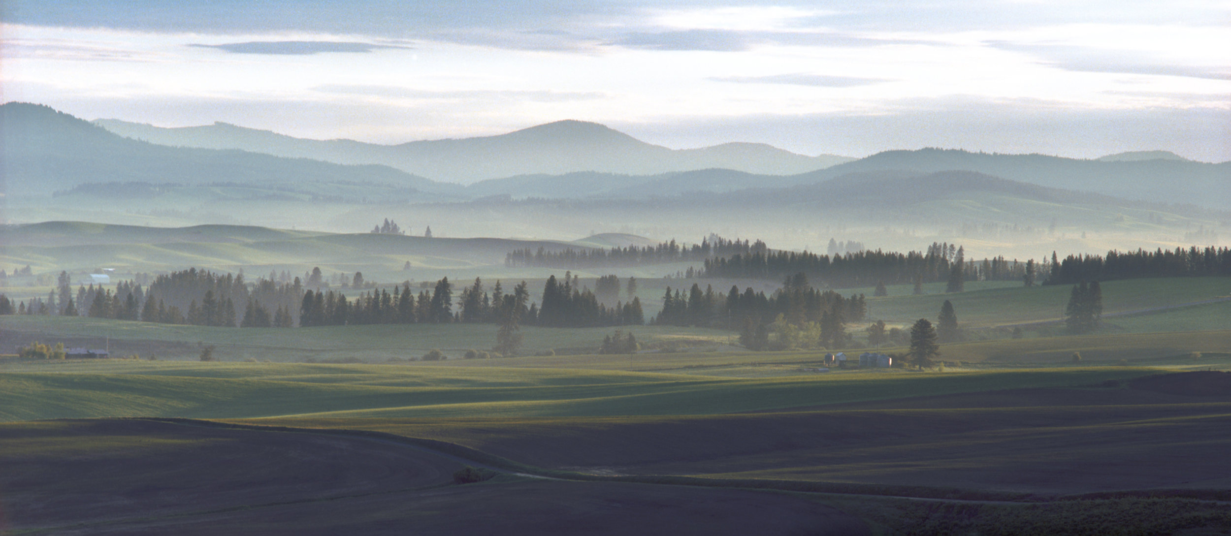 """Morning Mist"" curtesy of John Clement (photo taken at the eastern Palouse uplands)"