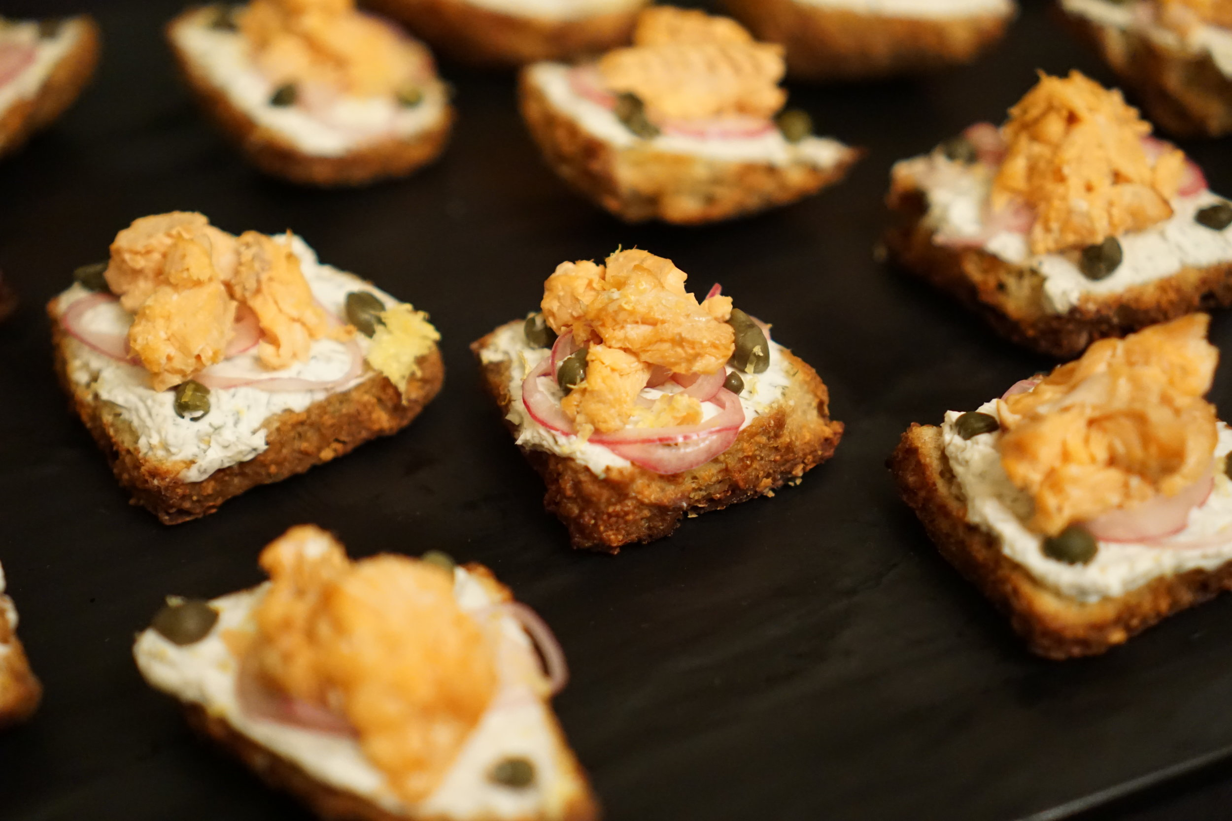 Smoked salmon and dill scone made with  Scots Bere Barley  paired with Top Rung Brewery Scout Stout (Chris Lozier photo)