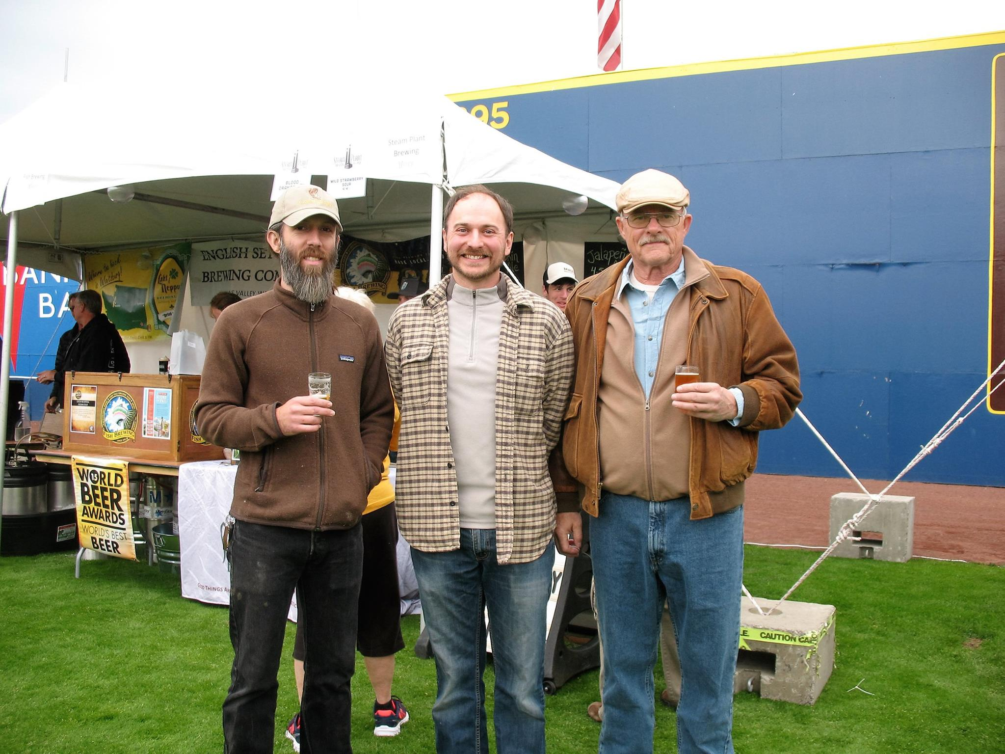 From left to right:  the baker (Shaun of Culture Breads), the malter (Joel of Palouse Pint), and the farmer (our own Don Scheuerman)