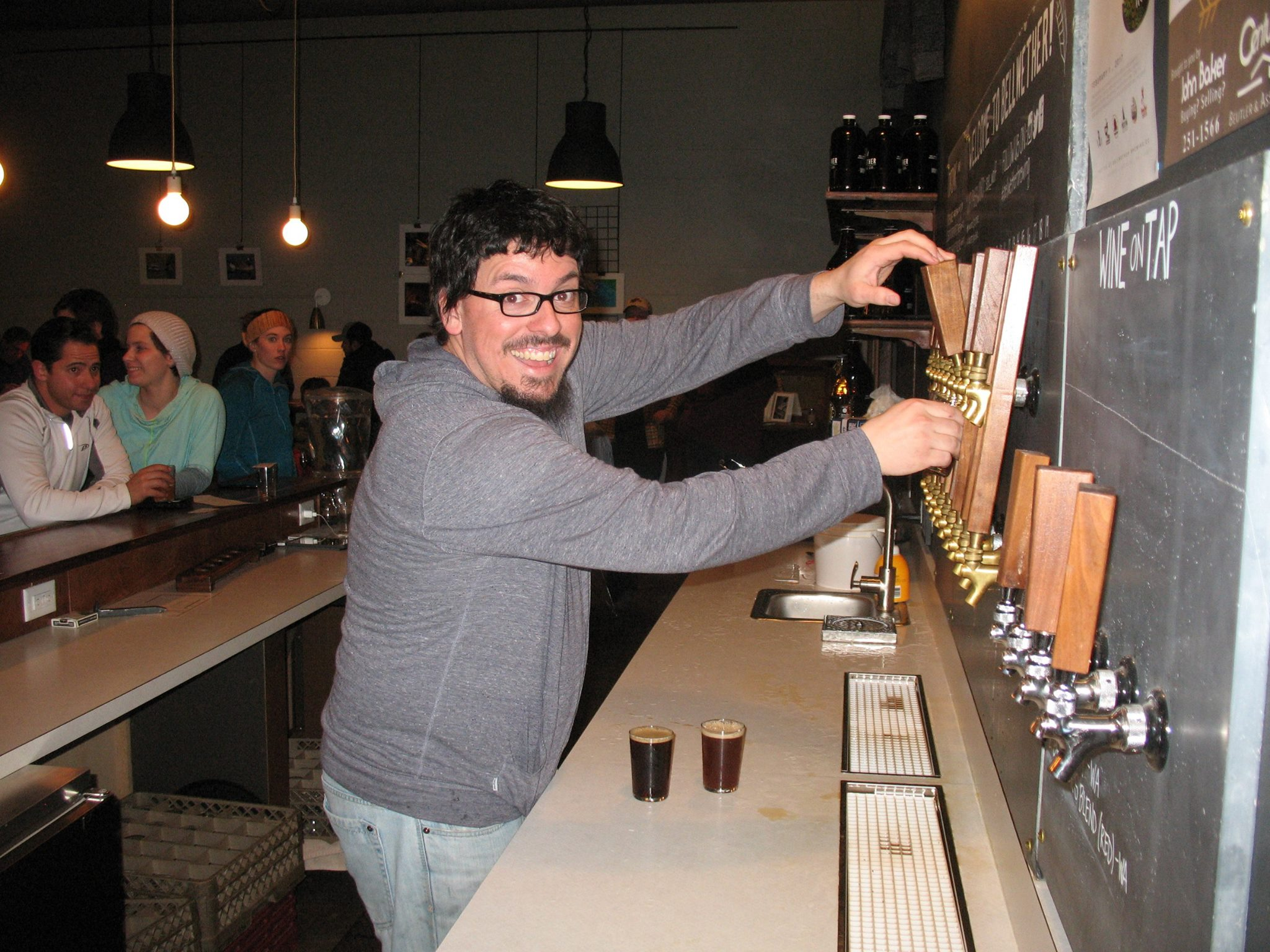 The brewer (Tom of Bellwether Brewery)