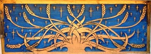 Edwin Molander, Grain Sheaf Window Panel (1949),  Trinity Lutheran Church, Endicott, Washington