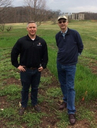 "With Jason and ""Waves of Grain"" Heritage Wheat Plantings"