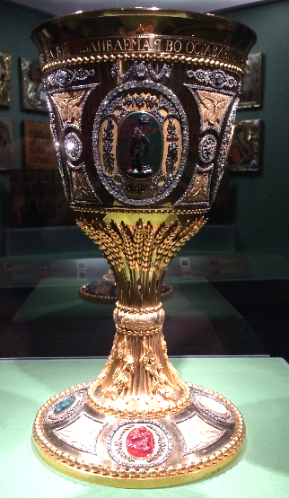 Buch Chalice with Gold Wheat Stem; presented by Catherine the Great to Nevsky Cathedral, 1791